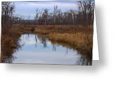 Calm Reflections Greeting Card by Rhonda Humphreys