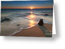 Calm Winter Waves Greeting Card