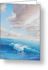 Calming Ocean Greeting Card by Joe Mandrick