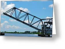 Caloosahatchee Train Draw Bridge Greeting Card