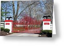 Calumet Farm Entrance Greeting Card by Roger Potts