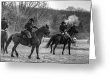 Calvary Charge Civil War Greeting Card