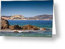 Calvi Citadel In Corsica Greeting Card