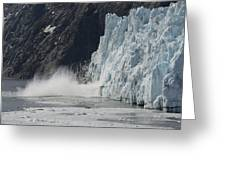 Calving Margerie Glacier Greeting Card