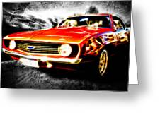 Camaro'd Greeting Card by Phil 'motography' Clark