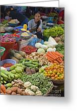 Cambodian Vegetable Market Greeting Card by Craig Lovell