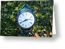 Cambria Square Time Clock Greeting Card