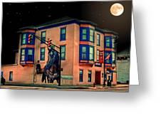 Cambridge City At Night Greeting Card