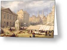 Cambridge Market Place, 1841 Greeting Card