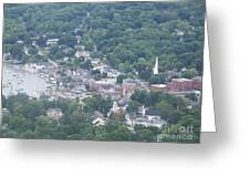 Camden Harbor 2381 Greeting Card
