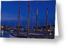 Camden Harbor Maine At 4am Greeting Card
