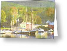 Camden Harbor Maine Greeting Card