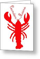 Camden Maine Lobster With Feelers 20150207 Greeting Card
