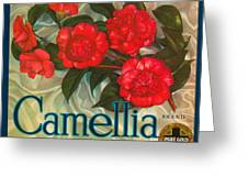 Camellia Crate Label Greeting Card