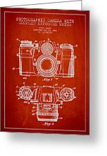 Camera Patent Drawing From 1962 Greeting Card