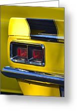 Camaro Taillight Greeting Card