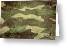 Camo Distressed Hard Version Greeting Card