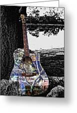 Camo Guitar Greeting Card