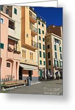 Camogli - Homes And Promenade Greeting Card