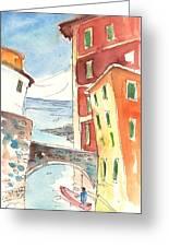 Camogli In Italy 04 Greeting Card