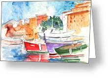 Camogli In Italy 14 Greeting Card