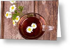 Camomile Tea Greeting Card by Jane Rix