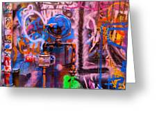 Camouflaged Pipework Greeting Card