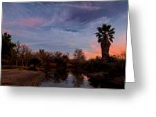 Camp Davis River Sunset Greeting Card
