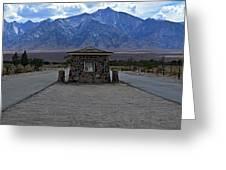 Camp Manzanar  Greeting Card