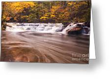 Campbell Falls In Autumn Greeting Card