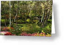 Campbell Rhododendron Gardens 2am 6831-6832 Panorama Greeting Card