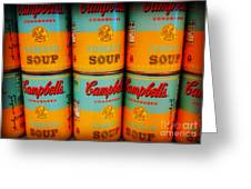 Campbell's Soup Retro Andy Warhol Greeting Card