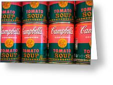 Campbell's Tomato Soup Pop Art Greeting Card