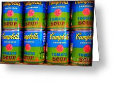 Campbell's Tomato Soup Retro Andy Warhol Greeting Card