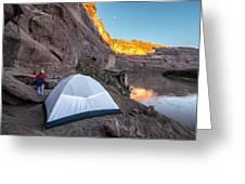 Camping Along The Labyrinth Canyon Greeting Card