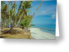 Camping In Tahiti Greeting Card