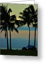 Camping Out Hawaii Style Greeting Card