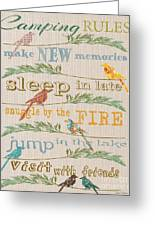Camping Rules-c Greeting Card