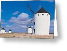 Campo De Criptana La Mancha Spain Greeting Card