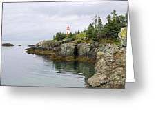 Campobello Island -  East Quoddy Lightstation Greeting Card