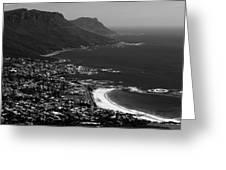 Camps Bay Cape Town Greeting Card by Aidan Moran