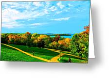 Campus Fall Colors Greeting Card