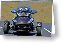 Can-am Spyder - The Spyder Five Greeting Card by Christine Till