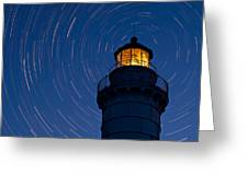 Cana Island Lighthouse Solstice Greeting Card