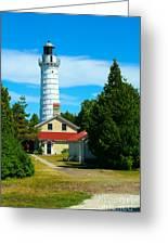 Cana Island Wi Lighthouse Greeting Card