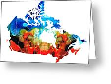 Canada - Canadian Map By Sharon Cummings Greeting Card