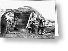 Canada Eskimo Family, 1860 Greeting Card
