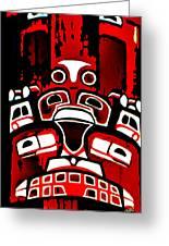 Canada - Inuit Village Totem Greeting Card