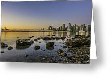 Canada Place Morning Greeting Card
