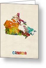 Canada Watercolor Map Greeting Card